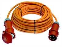 CEE Verlängerungskabel 32A Orange