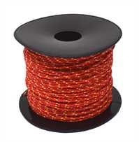 Lot- und Maurerschnur aus Polyester geflochten rot rot, Ø1,7mm, 100m