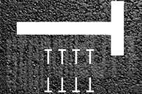T-Linienschablone